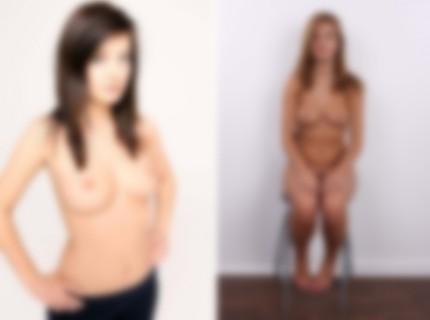 """【画像】裸晒してるヌードモデルを """"修正なし"""" で撮ったらこうなる・・・"""