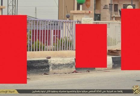 【閲覧注意】ISISの管理下にある地域で女性を強姦した男たち3人はこうなる・・・(画像)