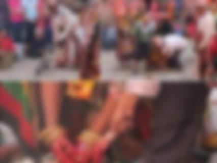 【閲覧注意】赤ちゃんを引き千切るネパールのお祭りより1枚