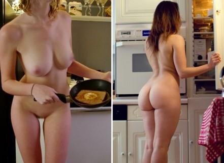 【画像】家の中では裸の女の子(裸族)の海外版がエロすぎる