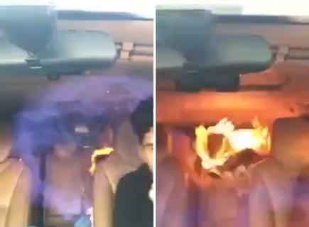 【動画】ガス漏れしている車の中でタバコを吸った結果・・・