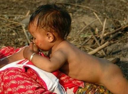 【閲覧注意】お母さんのおっぱいを吸ってる赤ちゃん。やっぱりこの画像が一番ヤバいわ
