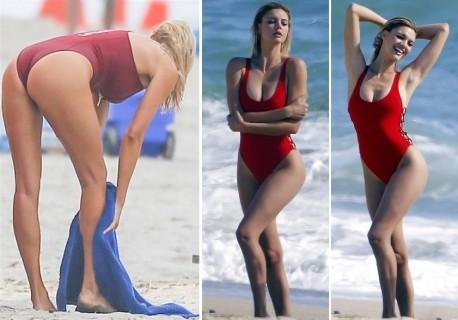 【画像】ビーチに一般人とはレベルが違いすぎる水着美女がいるんだけど