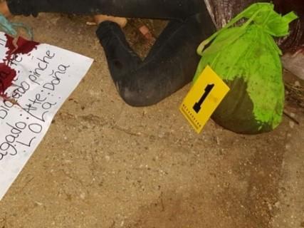 """【閲覧注意】メキシコの麻薬カルテル、""""開けてはいけない袋"""" を残していく・・・(画像)"""