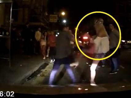 【動画】男同士のケンカに女が入り込んできた結果・・・⇒ 一瞬でKOされる
