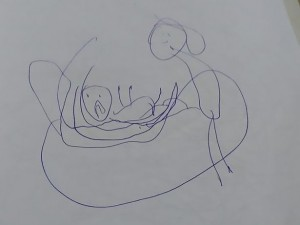 5歳の娘が「恐ろしい絵」を書き、幼稚園に行かなくなった…⇒ 調べてみると(画像)