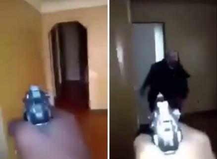 銃を持った男「今俺の家に泥棒がいる!」⇒ 見つけたので・・・(動画)