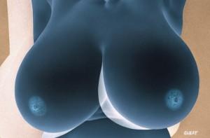 全裸になってもケンカをやめない超巨乳女・・・(動画)