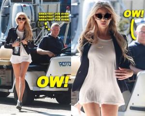 街中で無修正のマ●コを撮られたモデル、またやらかす・・・(画像)