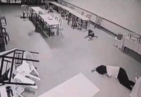 """襲われた女性は恐怖のあまり失神…ホテル内の監視カメラが捉えた """"ポルターガイスト現象"""" がヤバすぎる"""