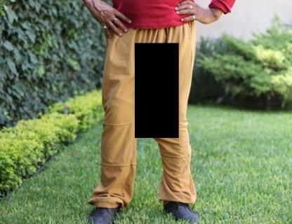 チ●コが48cmある男がズボンを履いたらこうなる・・・(画像)