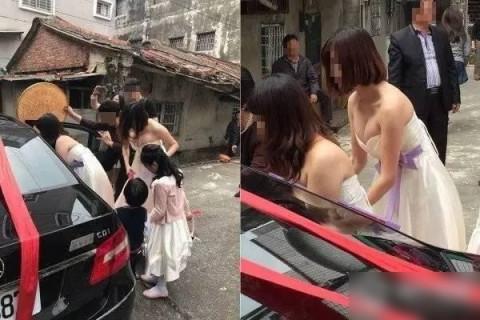 【画像】結婚式で新婦の友達が巨乳すぎて、マジでそこにしか目が行かない…