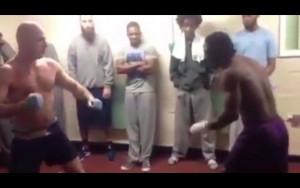 【動画】刑務所の受刑者同士のケンカ。これは明らかに素人じゃないわ…