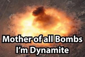 【動画】アメリカがイスラム国に落とした爆弾、「これ」らしい・・・威力ヤバいな