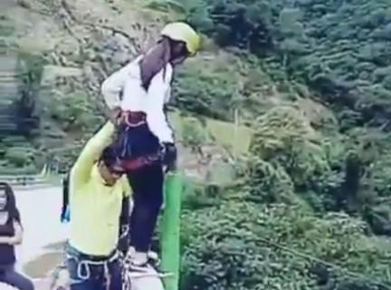 """""""今から死亡する"""" 女性のバンジージャンプ動画。怖すぎると話題に"""