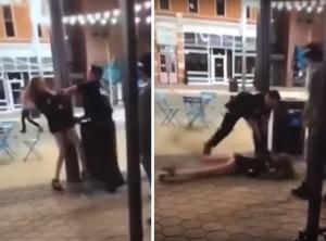 警察官に抵抗してるイケイケの女子大生、顔面から地面に叩き付けられ大人しくなる…(動画)