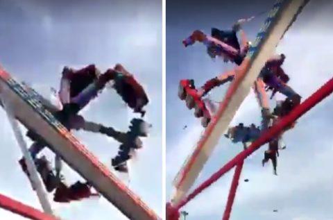 速報! 絶叫マシンで8人が死傷… 偶然撮影された「事故の瞬間」がヤバすぎる(動画)