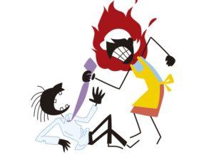 """【閲覧注意】嫁が夫婦喧嘩中 """"斧"""" を外に投げた結果・・・外から叫び声が聞こえ…"""