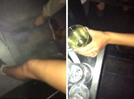 クラブでコップにオシッコした女の子の末路・・・(動画)