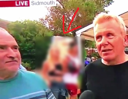 TV中継でガチで素人女のおっぱい+乳首が映る放送事故…これはアウト(動画)