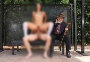 街中で挿入セ○クスしてるカップルがやばい・・・(画像)