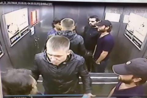 【動画】エレベーターで1対3のケンカ ⇒ 1がクソ強かった場合…