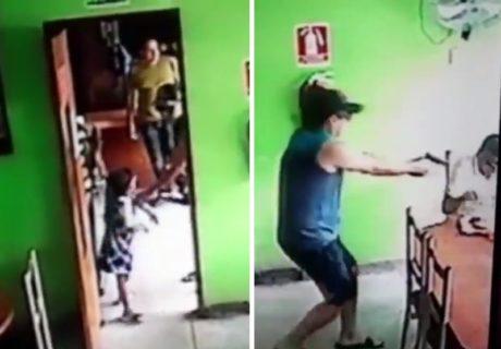 【動画】殺し屋、ターゲットは抹殺するのに小さな女の子は避難させてあげる…