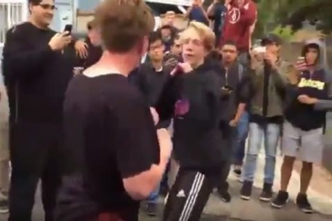 【動画】高校のイケてる奴とイケてない奴が喧嘩してイケてない奴が勝ってしまった結果・・・