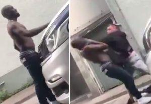 【動画】DQNが1台の車にケンカを売る ⇒ 超ヤバい奴らが出てきた結果・・・