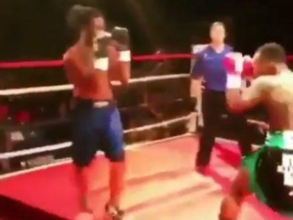 【動画】ケンカ自慢の素人がプロボクサーとガチでやり合った結果・・・たった3秒で・・・
