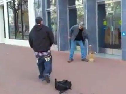 【動画】DQN、おじいちゃんにケンカを売ってまさかの1発KOされてしまう・・・