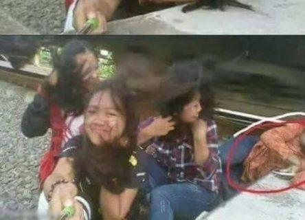10代の少女4人「みんなで写真撮ろうー」 ⇒ 自撮りしようとした瞬間…1人重傷…(画像)