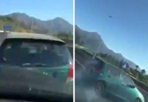 【狂気】笑いながら前を走る車に追突 → 事故らせたDQN、もはや炎上どころではない・・・(動画あり)