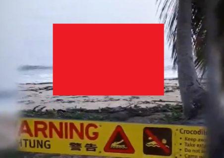 【危険】遊泳禁止の海水浴場撮影してたら…海の中からヤバいものが現れたんだが…(動画あり)