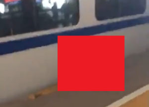 【閲覧注意】駅に絶対死ぬだろうな…って人がいるんだが…(動画あり)