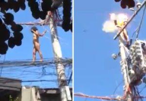 【衝撃】全裸で街に飛び出した障害者の女の子はこうなります・・・(動画あり)
