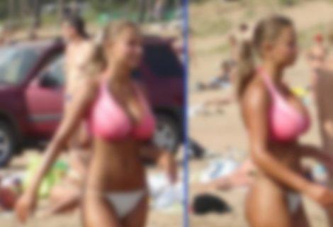 【画像】海水浴場に現れた女子高生史上「一番エロい」と言われる伝説のおっぱい