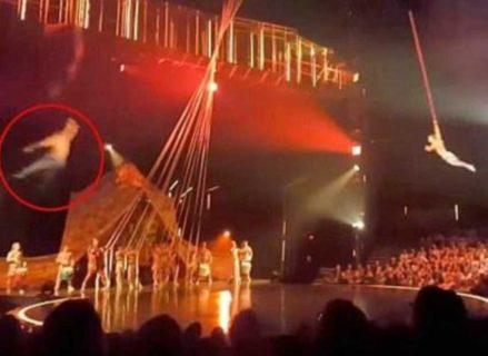 【衝撃映像】シルク・ドゥ・ソレイユの団員が公演中に死亡する瞬間の動画がヤバイ