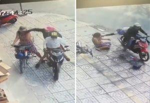 【動画】10秒間に2回も強盗被害に遭う女性が話題にwwwwww