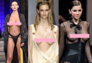 【動画】巨乳美女モデル、ショーでおっぱいどころか乳首まで晒さなきゃいけない…