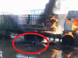 【閲覧注意】トラックの運ちゃんの死に方が想像を絶するレベルで笑えない…(動画あり)