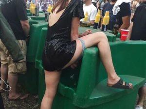 【画像あり】お祭りで100%その日にセ○クスできそうな超ビッチ女wwwwww