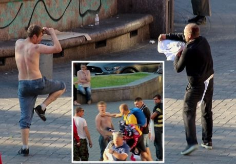 【動画】格闘技をかじったDQNが街中で弱者をボコボコに ⇒ そこにプロボクサーが現れた結果www