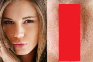 【狂気】美少女の「顔」と「マ●コ」を並べた画像wwwwww