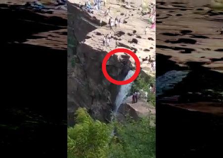 イキリDQN「高さ50mの滝のギリギリまで行ったろ!余裕余裕」 ⇒ 落ちて死亡
