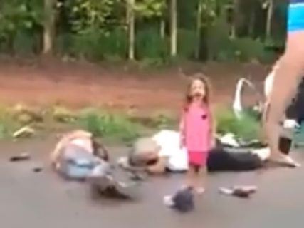 【閲覧注意】路上で泣いている幼女… その周りが地獄絵図すぎる…(動画あり)
