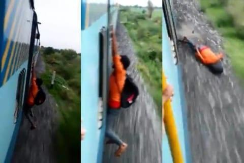 【衝撃映像】DQN「電車の外側につかまって移動中www」⇒ 結果・・・(動画あり)