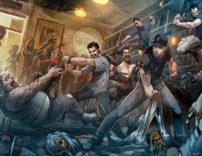 """【衝撃】バーで陰キャグループを暴行し始めたDQN2人組。ただしグループの中には """"ヤバい奴"""" がいて…"""