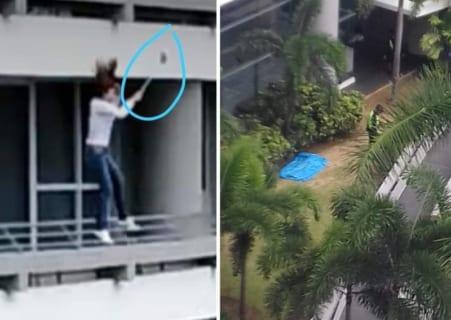 【衝撃映像】女さん、自撮り中に死亡