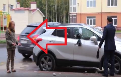【超絶悲報】彼氏に復讐しようとした女の子、間違って「他人の車」をめちゃくちゃに…これはヒドイ